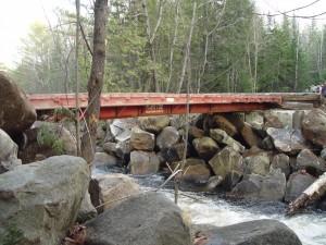 New Snowmobile Bridge over Cooper Brook