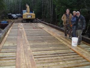 Completely rebuilt Snowmobile Bridge over Cooper Brook