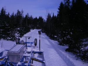 Snowmobile Trail Groomer on 109 Connector Trail taken January 6, 2013