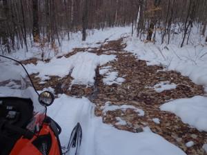 JoMary Snowmobile Trail on January 8, 2016