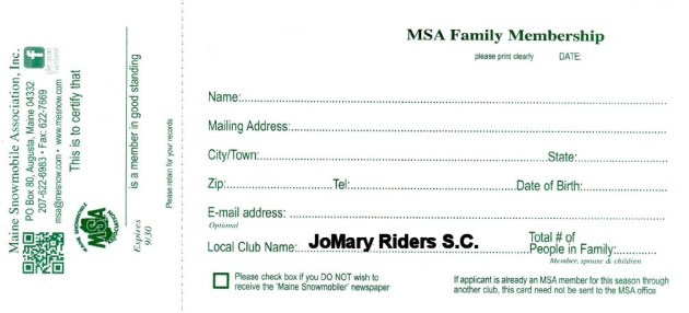 Individual-Family Membership Application